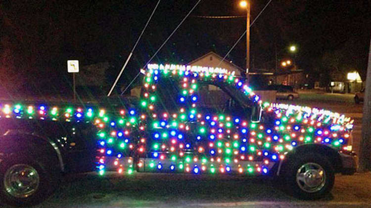 Truck decked out in festive lights gets owner a ticket for Christmas [w/video]
