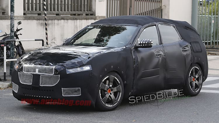2017 Maserati Levante is somewhere under all that cladding