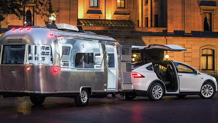 Tesla 'Explores' US with Airstream Design Studio in tow