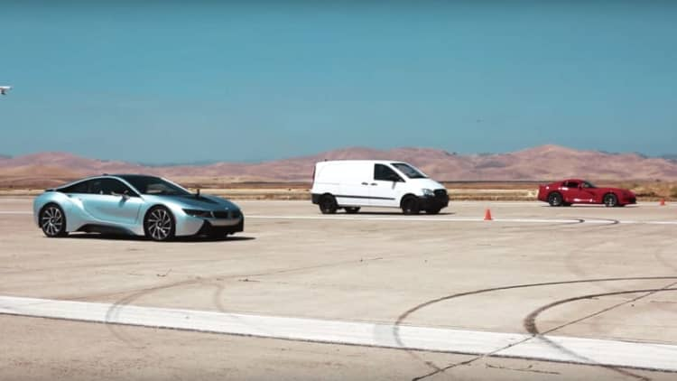 Watch Atieva's electric van outrun a BMW i8 and Dodge Viper