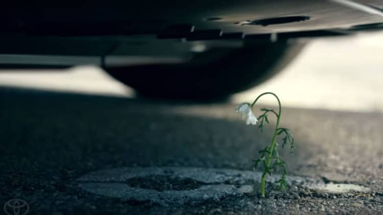 The Mirai has flower power in Toyota's Super Bowl ad