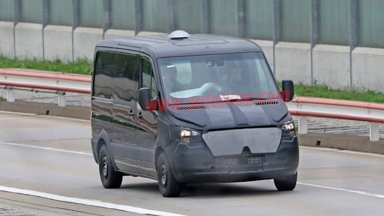 Next Mercedes Sprinter van spied looking big and useful