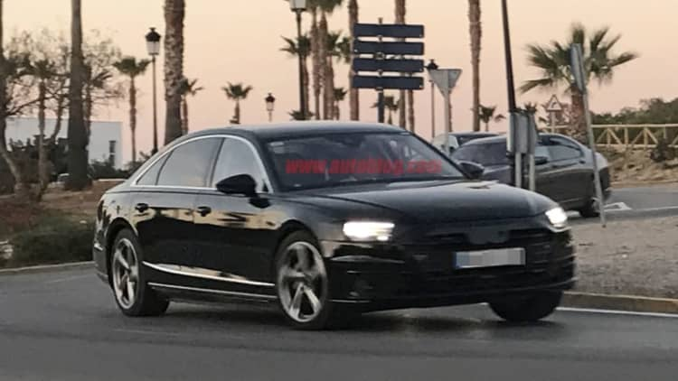 2018 Audi A8 caught without camo