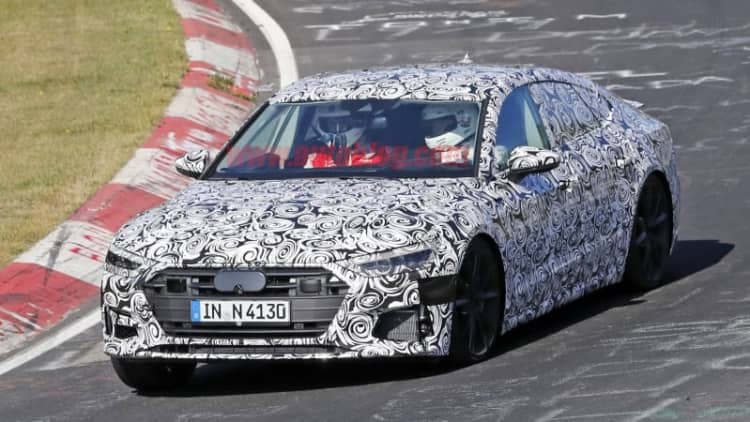 Audi's next S7 spotted sporting Prologue-inspired nose