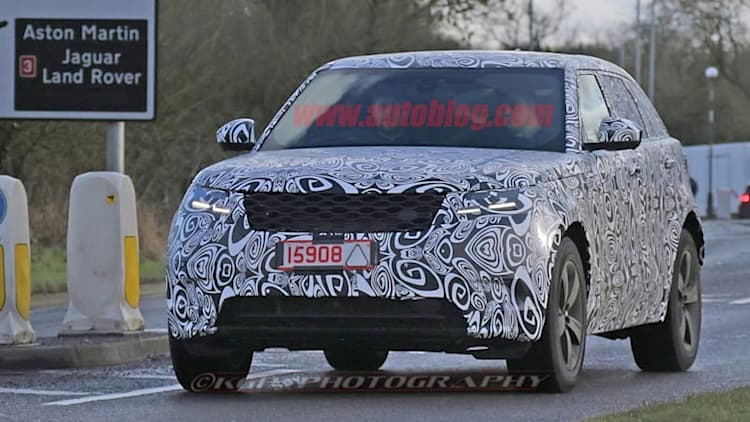 Near-production ready Range Rover Velar spied leaving the factory