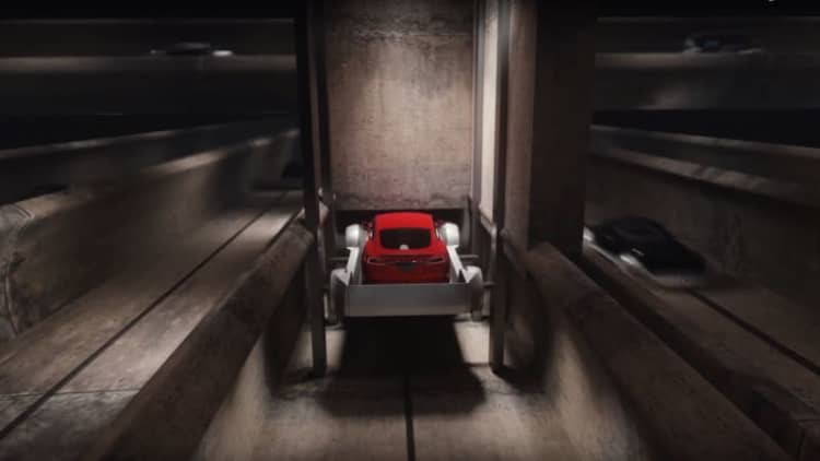 Elon Musk's Boring Company shares vision of futuristic underground travel