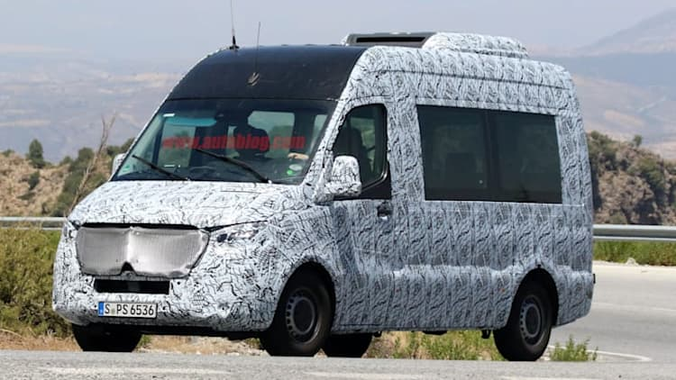 Next-generation Mercedes-Benz Sprinter caught driving tall and proud