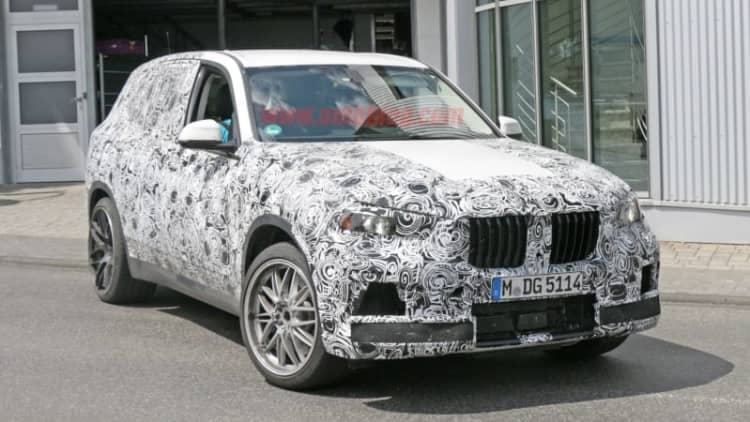 New BMW X5 M spotted at the Nurburgring