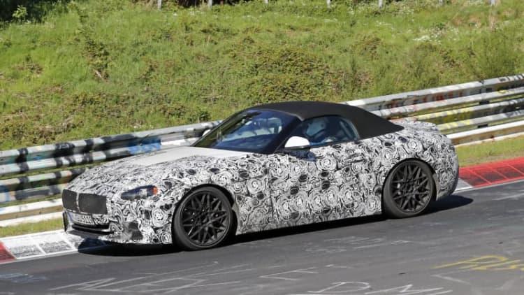 BMW Z4 testing at Nurburgring, retains manual transmission