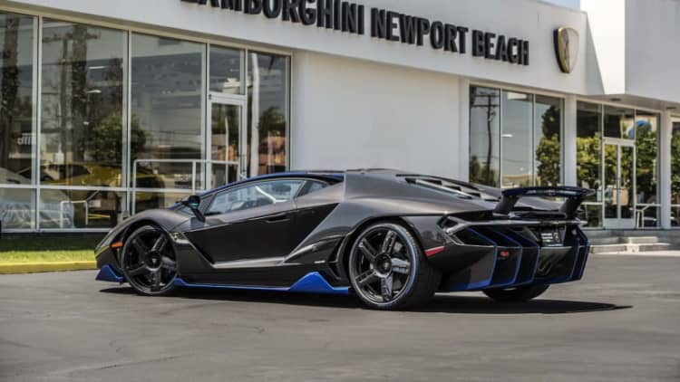 First US customer gets the keys to $1.9 million Lamborghini Centenario