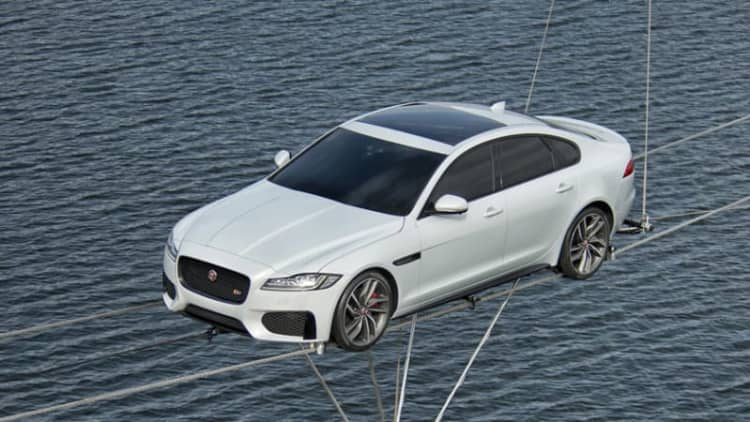Watch new Jaguar XF perform a literal high-wire act