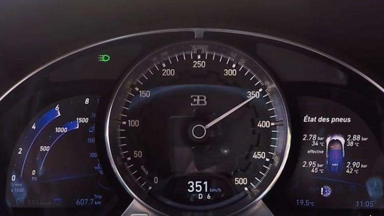Watch a Bugatti Chiron speedometer hit 218 mph