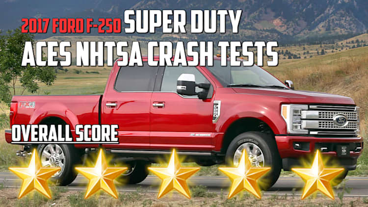 2017 Ford F-250 Super Duty aces NHTSA Crash Test | Autoblog Minute