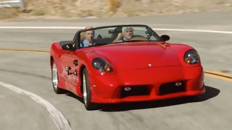 Don Panoz checks out Jay Leno's Garage with his 2015 Esperante Spyder GT prototype