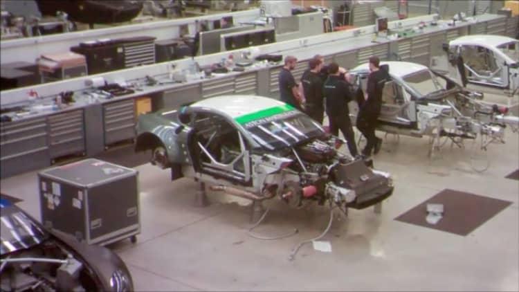 Watch Prodrive build an Aston Martin race car in 60 seconds