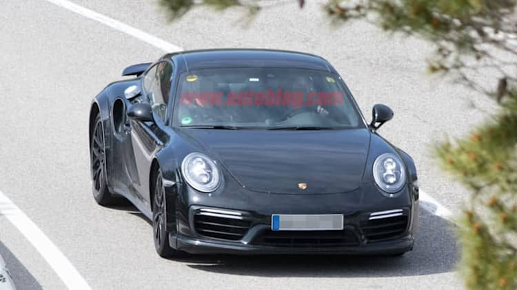 The new Porsche 911 Turbo is hiding underneath its older sibling