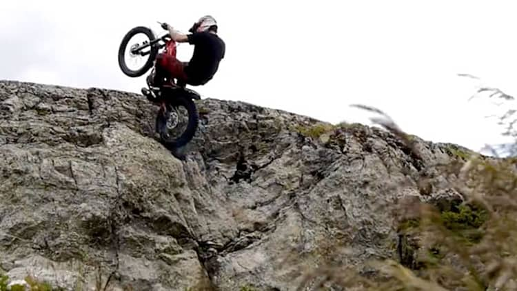 Freestyle motorcycle riding in the French Alps film is gorgeous