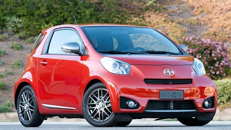 Toyota recalling 11,200 Scion iQ models over faulty passenger sensors