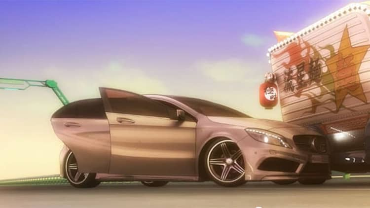 Watch Mercedes-Benz's new A-Class in an anime adventure