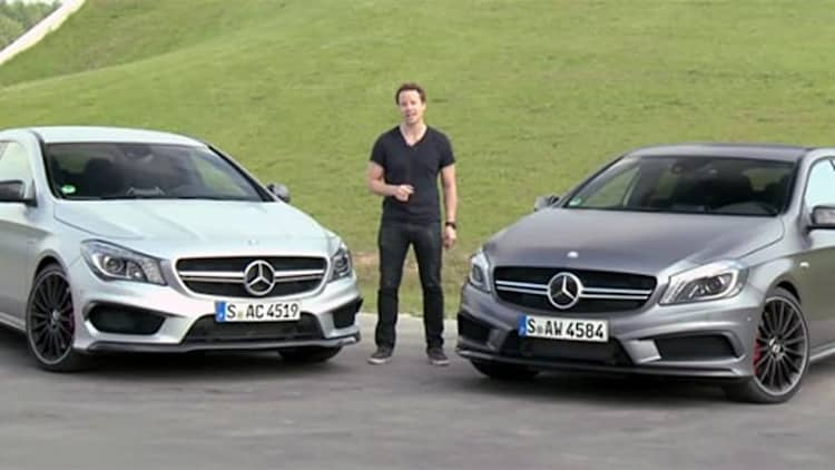 Mercedes A45 AMG pitted against CLA45 AMG in brotherly battle