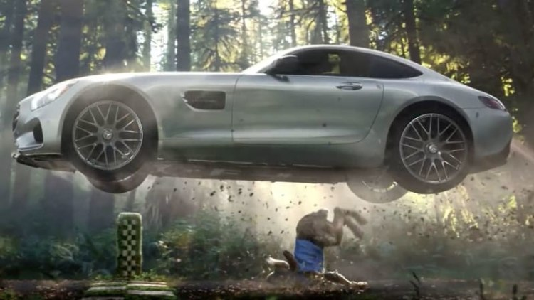 Mercedes harkens back to tortoise and hare for AMG GT Super Bowl spot