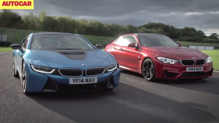 BMW i8 pitted against M4 in sibling rivalry track battle