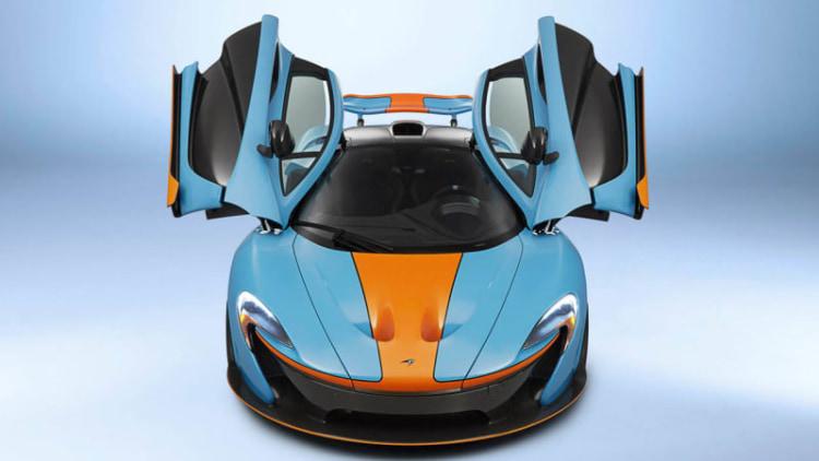 McLaren P1 looks retrolicious in Gulf livery