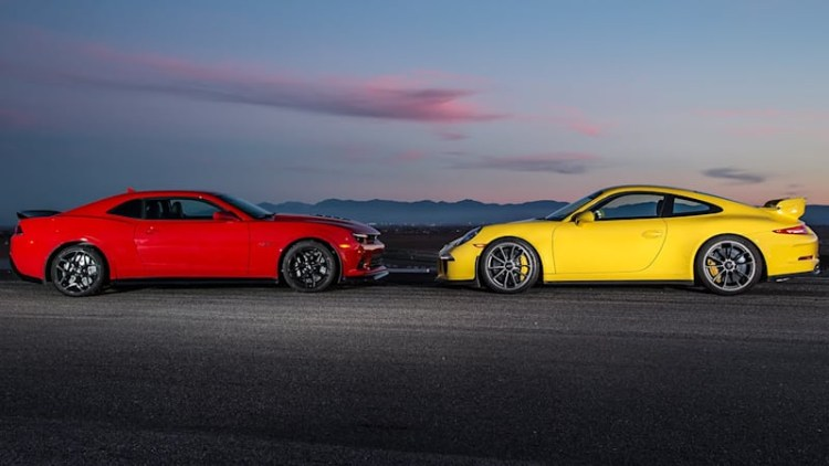 Motor Trend puts Chevy Camaro Z28 and Porsche 911 GT3 Head 2 Head