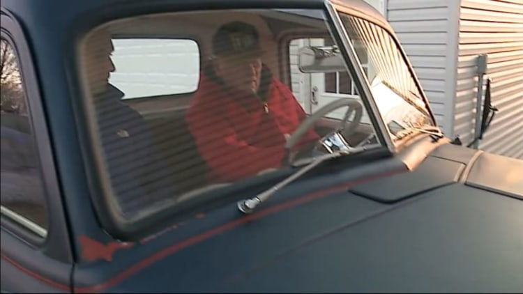 Son surprises his dad by restoring his 1949 pickup for Christmas
