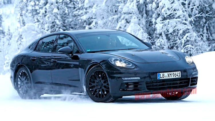 Porsche spotted testing next-gen Panamera in the snow