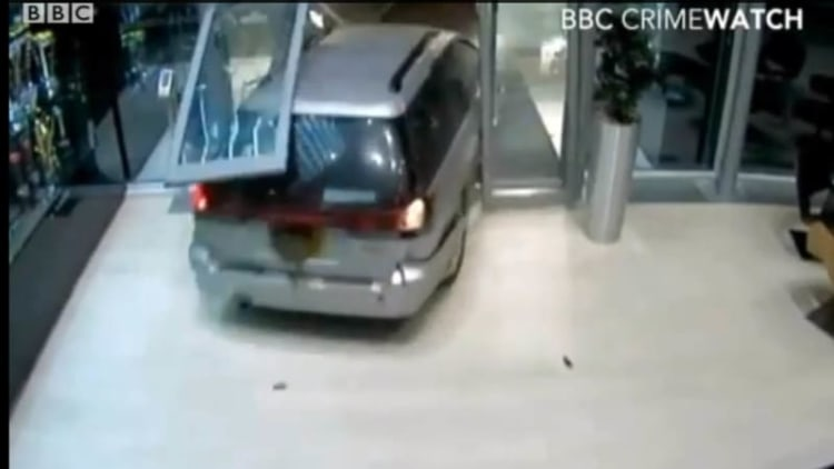 CCTV footage shows Red Bull trophy heist going down