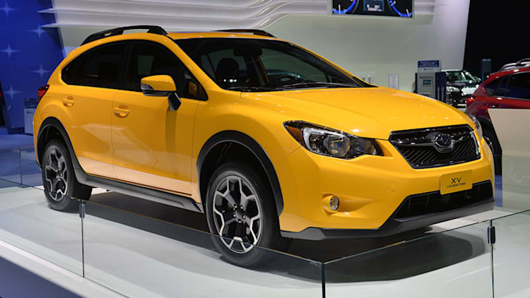 2015 Subaru XV Crosstrek Special Edition shows its shining face to the Detroit crowd
