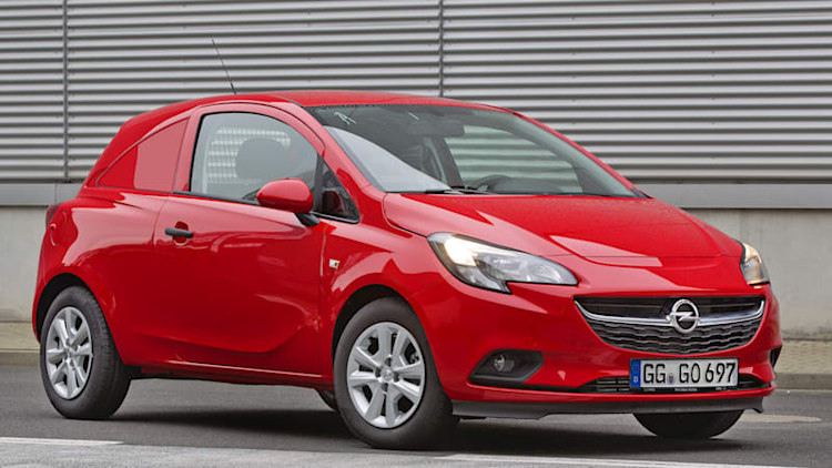 Opel Corsavan delivers small packages in a small package