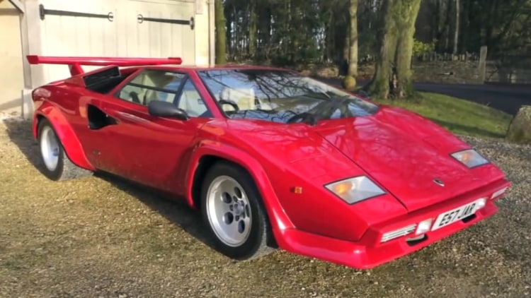 Harry Metcalfe shows off his Lamborghini Countach