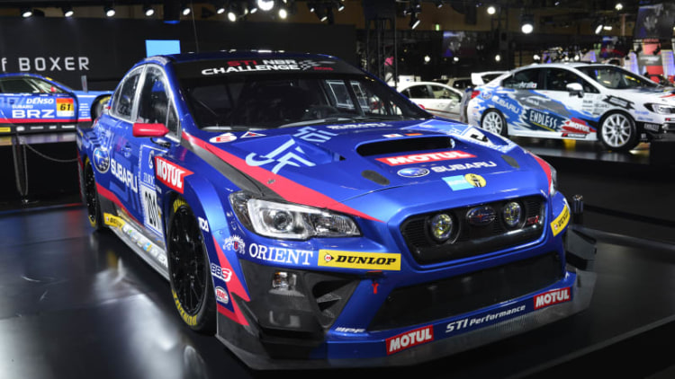 Subaru shows racing versions of STI and BRZ