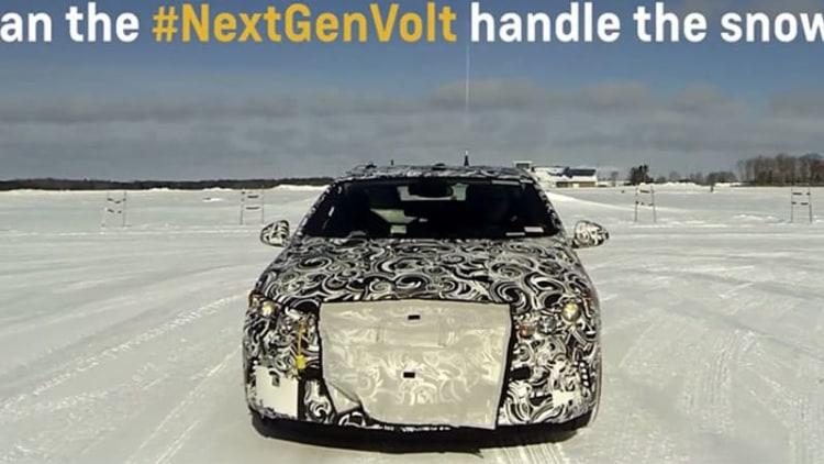 Watch a camo'ed next-gen Chevy Volt go ice driving