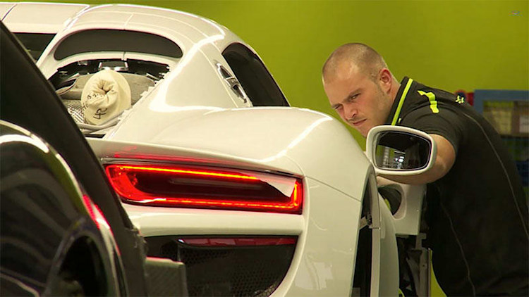 Watch a Porsche 918 Spyder being built by hand