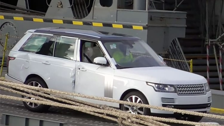 Lots of Land Rovers, Jaguars and Minis actually survived that near-capsized ship