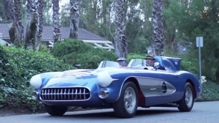 1956 Corvette SR-2 factory racer profiled