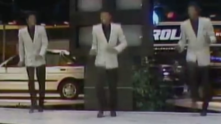The Jitterbugs somersaulted at the 1986 Chicago Auto Show for the Chevy Nova