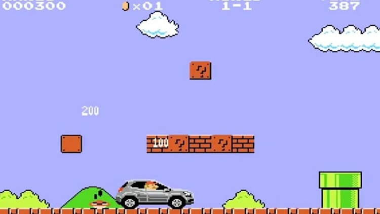 Mario Bros. enlisted to sell Mercedes GLA in Japan with bizarre results
