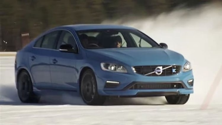 Watch Volvo's V8 Supercar drivers play with the Polestar S60 in the Arctic