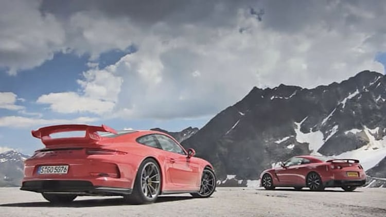 Porsche 911 GT3 dukes it out with MP4-12C on track and GT-R on spectacular roads