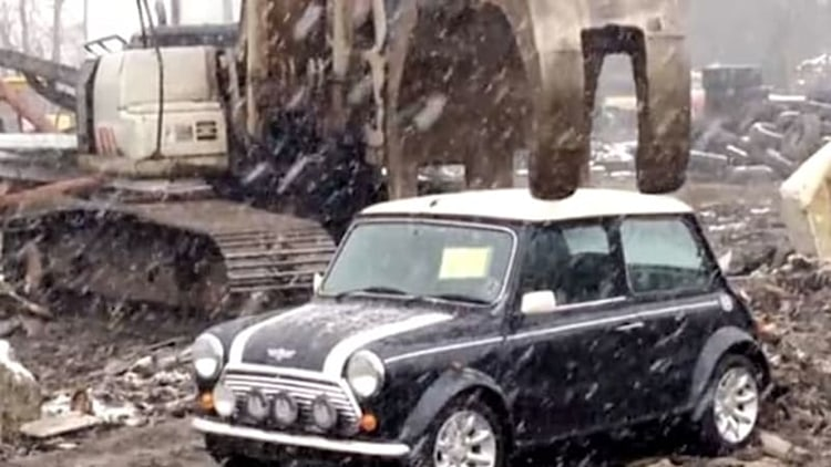 Watch feds crush classic Mini caught in importation dragnet