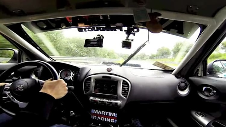Watch this 800-hp Nissan Juke-R savage the 'Ring