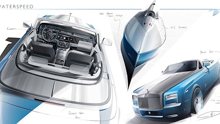 Rolls-Royce releases sketch of Phantom Drophead Coupe Bespoke Waterspeed Collection