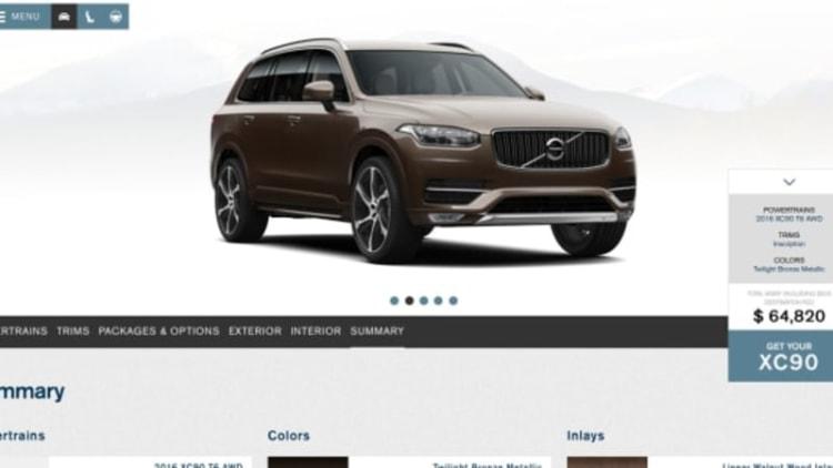Volvo launches XC90 configurator site