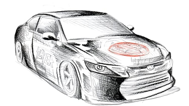Scion sketches SEMA spread starring Slayer, skateboarder