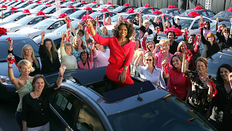 Looking back at Oprah's free-car giveaway 10 years later
