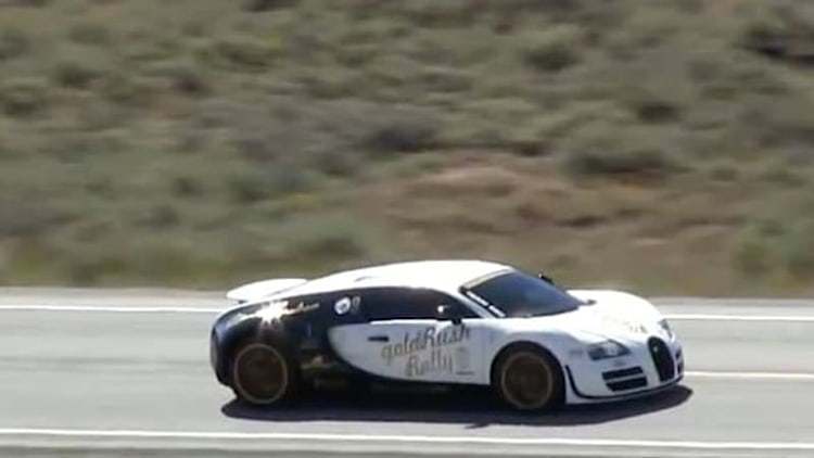 Watch a Bugatti Veyron Super Sport hit 246 mph during road rally